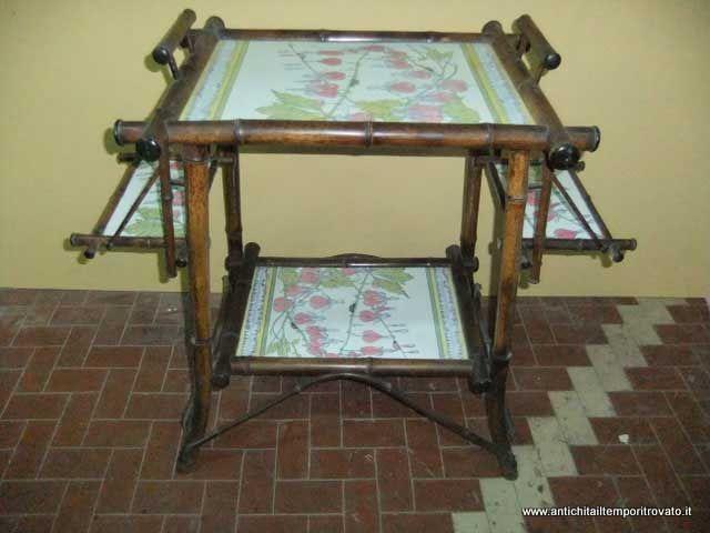 Mobili antichi mobili vari antico tavolino da colazione for Mobili antichi in vendita da privati