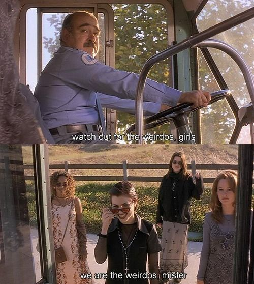 We are the weirdos, mister. The craft 1996. (One of my favorite 90s movies!)