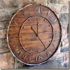 Pottery Barn Rusted Clock knockoff tutorial