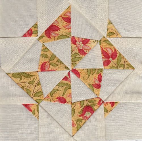 Jane A. Stickle Quilt block 1: JAS-01 – Pinwheel Gone Awry | Sewn Up by TeresaDownUnder