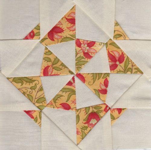 Jane A. Stickle Quilt block 1: JAS-01 – Pinwheel Gone Awry   Sewn Up by TeresaDownUnder