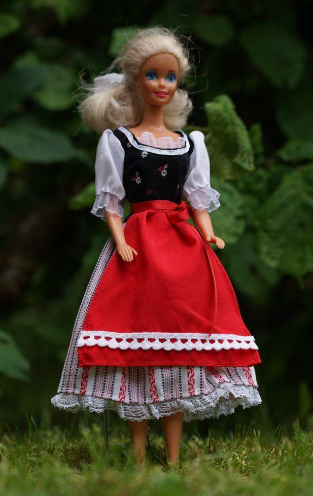 Puppen-Schnittmuster - Barbie Schnittmuster: Dirndlkleid