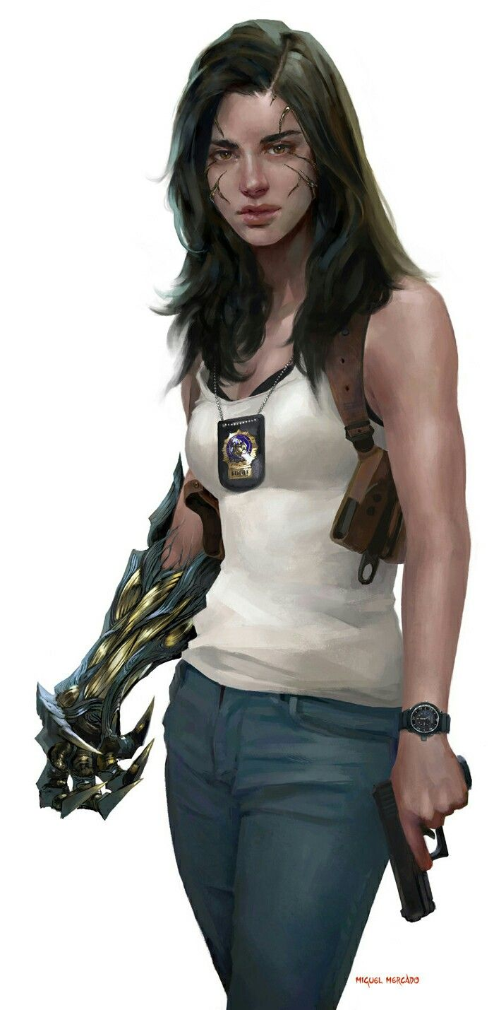 Witchblade? If so, I like it. I mean I like it either way but this is a MUCH more realistic depiction of Sara Pizzini.