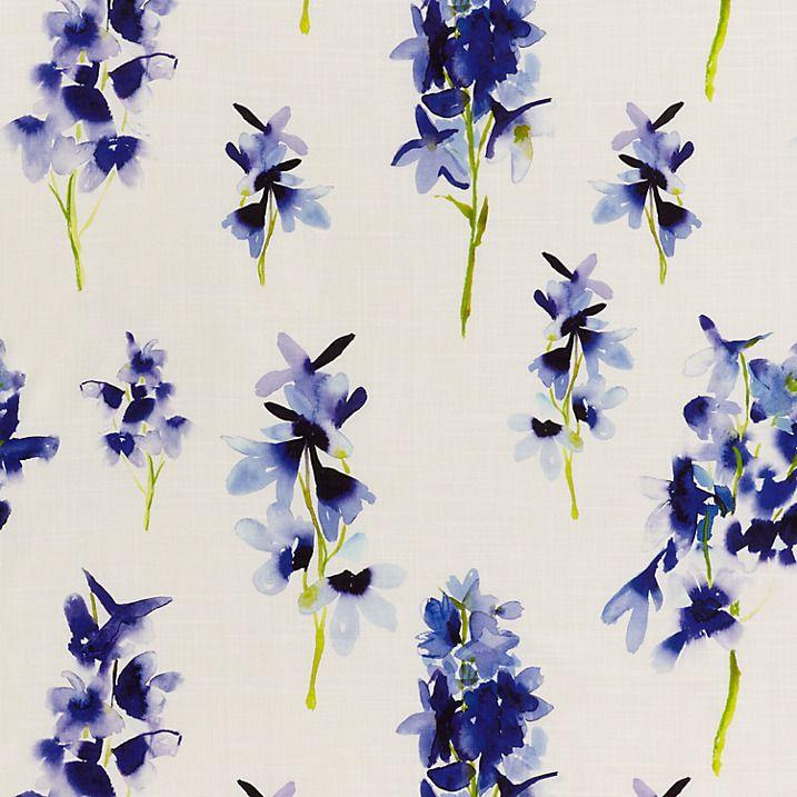 Buy bluebellgray Delphinium Lined Pencil Pleat Curtains, W167 x Drop 182cm Online at johnlewis.com