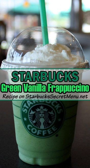 Vanilla Bean Frappuccino ~ Add matcha powder (1 scoop tall, 1.5 grande, 2.5 venti)