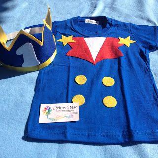 Camisa + Coroa Pequeno príncipe