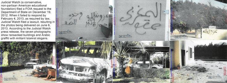 Montage of 7 FOIA photographs from Department of State - 2012 Benghazi attack