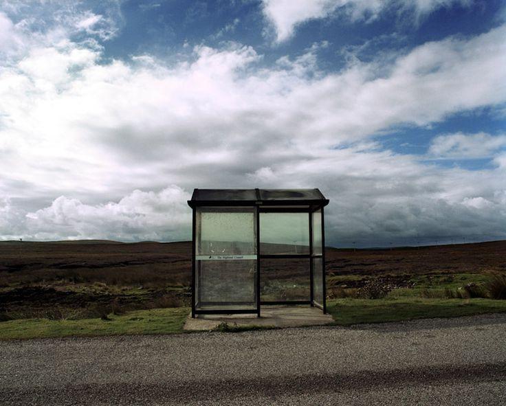 Bus stop, near Thurso, Caithness.