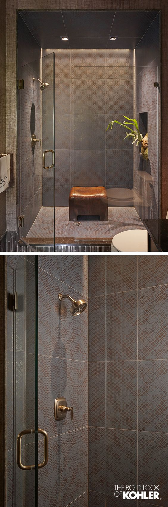 Guest bath interior design inspiration - a beautiful shower experience.