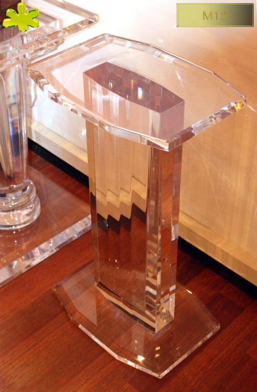 COLONNE IN PLEXIGLAS | Colonna in plexiglas 10.mod. M12  | Colonne in plexiglass fusto cm.25 x 10 - piani cm.45 x 32 h.cm.75