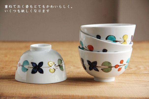 色絵花繋ぎ 飯碗 九谷青窯・徳永遊心 | 日本の手仕事・暮らしの道具店 | cotogoto コトゴト