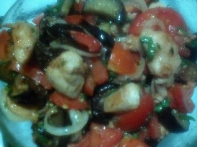 райский салат из баклажанов