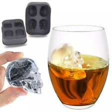 Skull Shape 3D Ice Cube Mold Maker Bar Party Silicone Trays Chocolate Mold Gifts