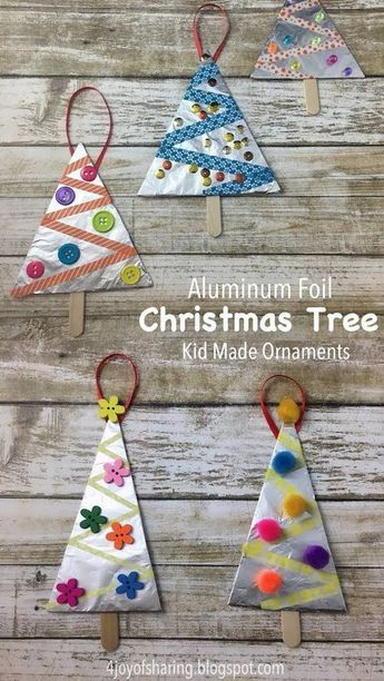 Aluminum Foil Christmas Tree Ornaments Crafts Pinterest