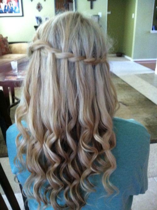 hair braid: Waterfalls Braids, Hairmakeupand Clothing, Waterf Braids, Hair Design, Waterf Twists, Long Hair, Hair Braids, Hair Style, Waterfall Braids