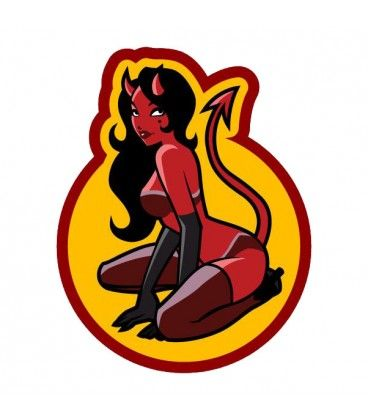 82 best morale patches images on pinterest - Dessin diablesse ...
