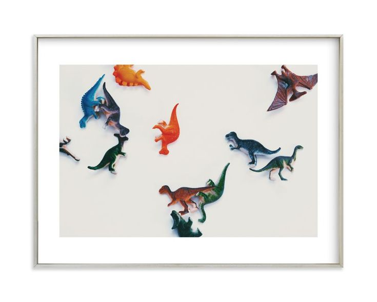 """""""dinosaurs"""" - Limited Edition Art Print by Morgan Kendall in beautiful frame options and a variety of sizes."""