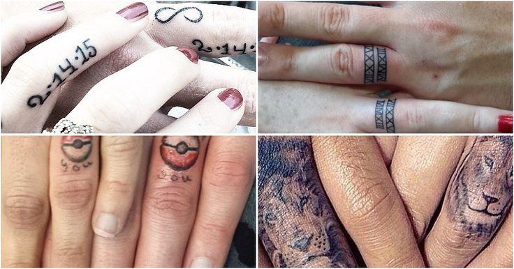 Cambia los tradicionales anillos de boda por... ¡tatuajes!