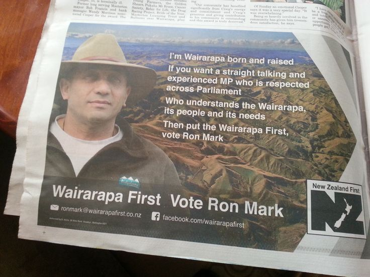 Ron Mark, Wairarapa local, was elected NZ First Party MP in the 2014 elections and past mayor of Carterton.