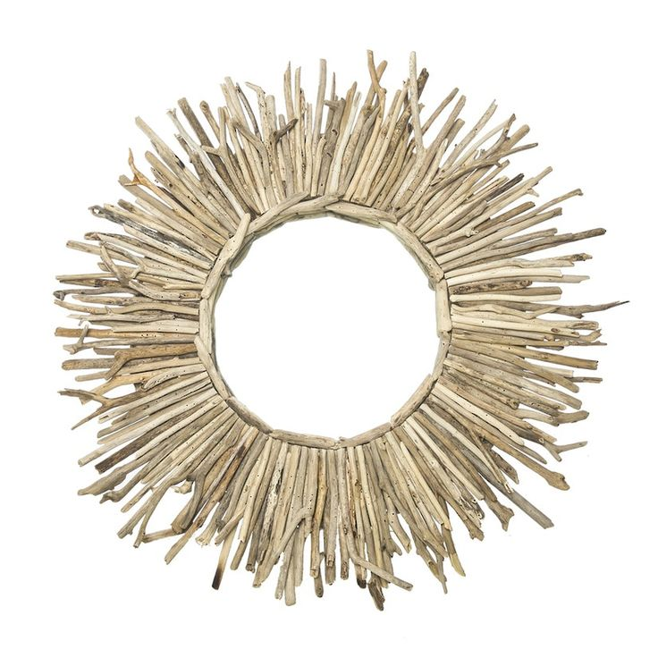 This handmade driftwood mirror epitomizes bohemian luxe . Designed by Jillian Middleton, her collection of pendant lights and mirrors are lovingly crafted from natural and sustainable material, wit...