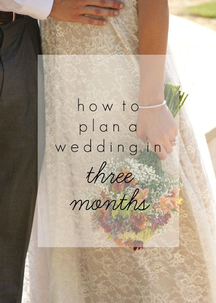How to plan a wedding in 3 months (part 1)
