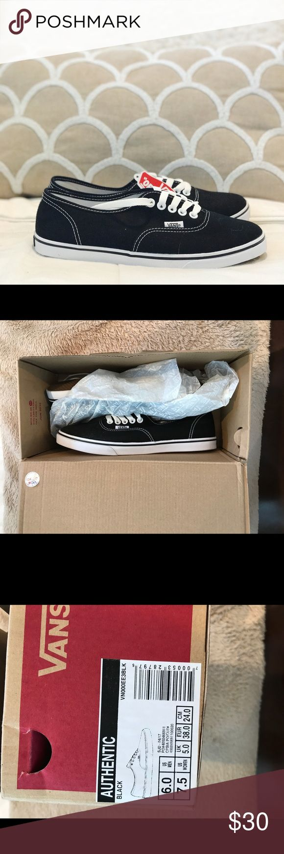 Black vans Bought these shoes and they didn't fit. They are completely new, never been worn. Vans Shoes Sneakers