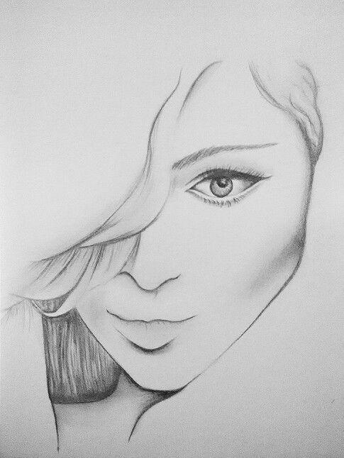 #woman #drawing #pencil
