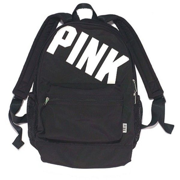Victoria's Secret Pink Campus Backpack New (Black Animal Print) (£53) ❤ liked on Polyvore featuring bags, backpacks, victoria's secret, sport backpack, black knapsack, knapsack bags and backpacks bags
