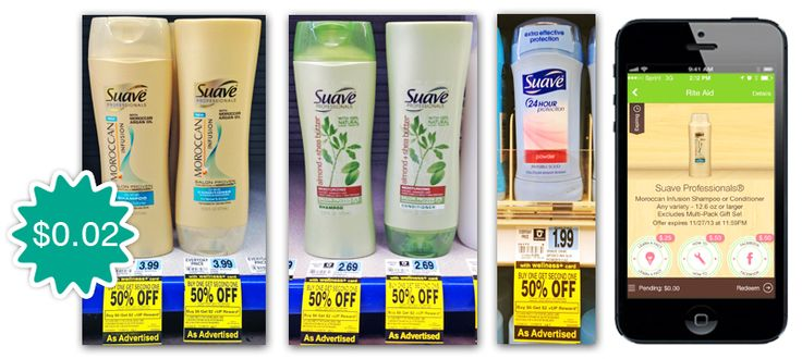 Suave Shampoo and Deodorant, Only $0.02 at Rite Aid!