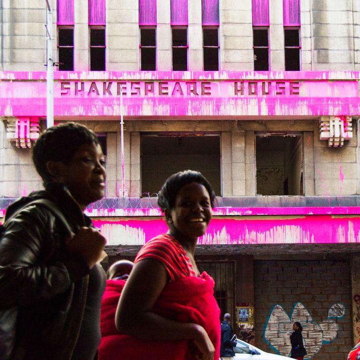 Painting Johannesburg pink: urban art highlights city's neglected high rises