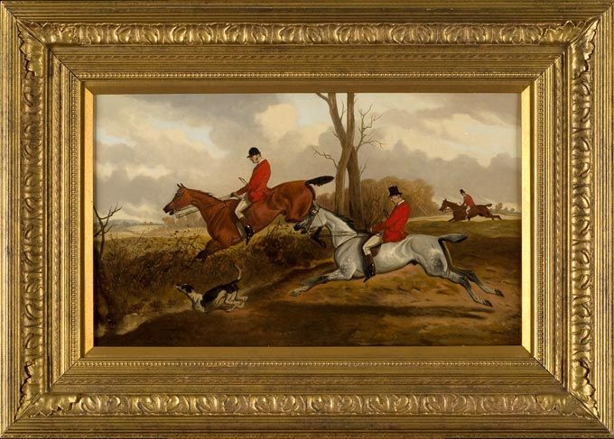Fox Hunt Painting By Wheeler