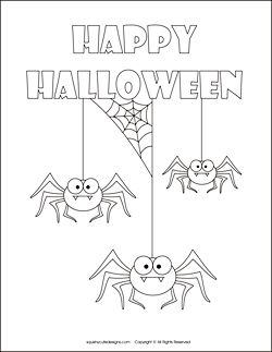 free halloween coloring pages spider coloring sheets halloween spider coloring pages
