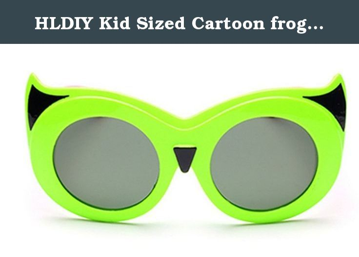 HLDIY Kid Sized Cartoon frog mirror Anti-UV Sunglasses Child Goggles. This glasses is designed for Kids outdoor activities. Your kids will love wearing these Sunglasses at beach parties, pool parties, and summer parties.