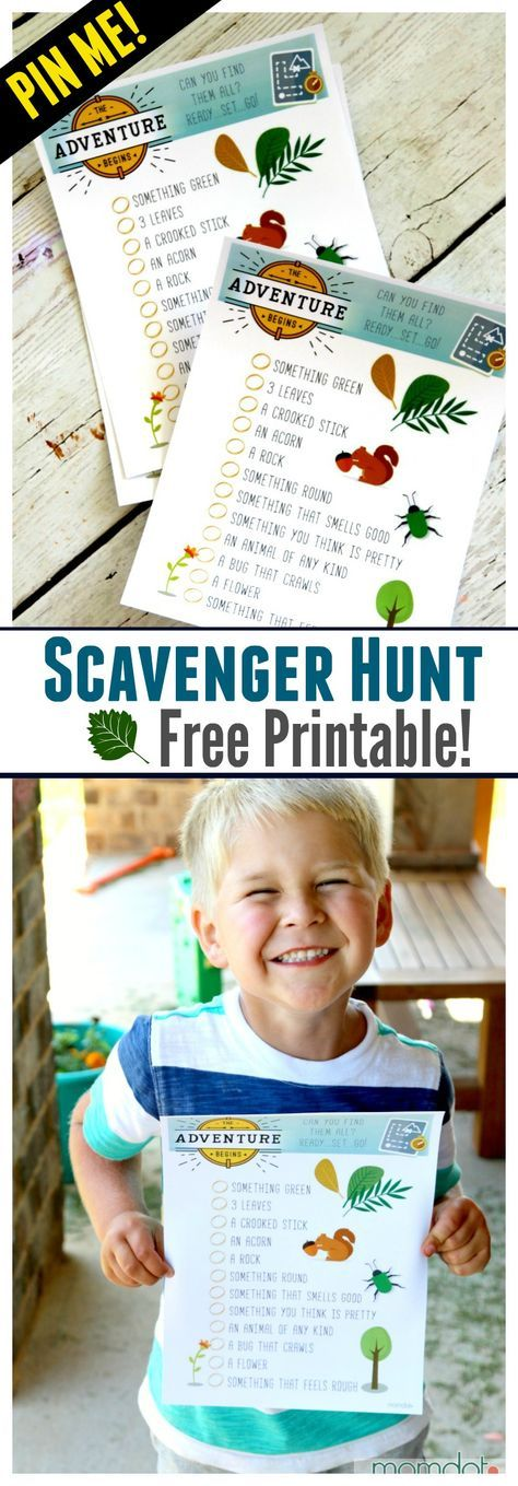 Nature Scavenger Hunt für Kinder