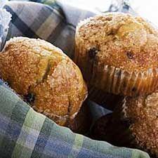 #Muffins aux #bleuets, à l'orange et aux #amandes #orange