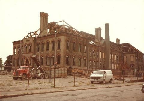 Central School demolition 1982