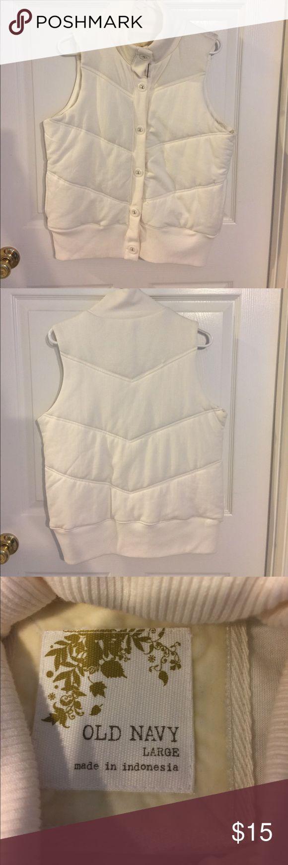 Old Navy vest Old Navy white vest Old Navy Jackets & Coats Vests