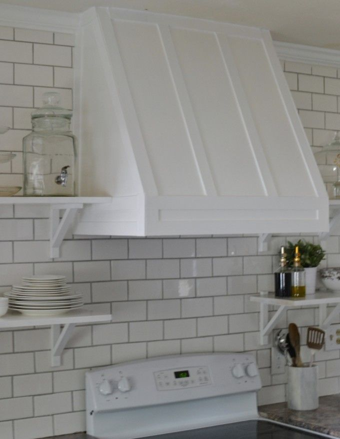 Diy range hood cover get for Shaker style kitchen hoods