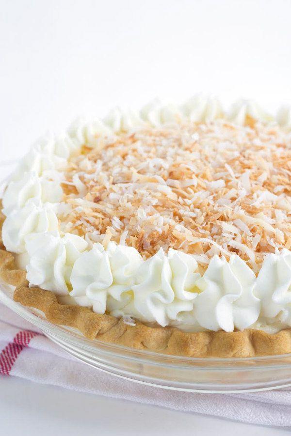 Coconut Cream Pie - recipe from RecipeGirl.com