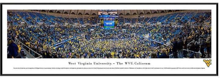 Blakeway Worldwide Panoramas West Virginia Mountaineers Basketball Arena Framed Wall Art