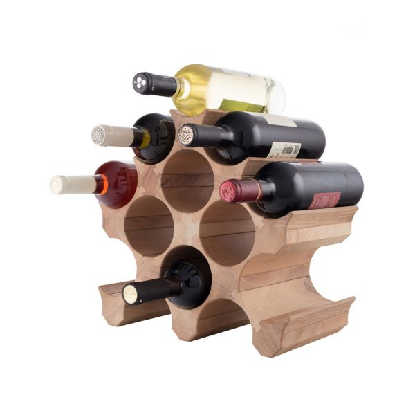 11 Bottle Wooden Wine Rack