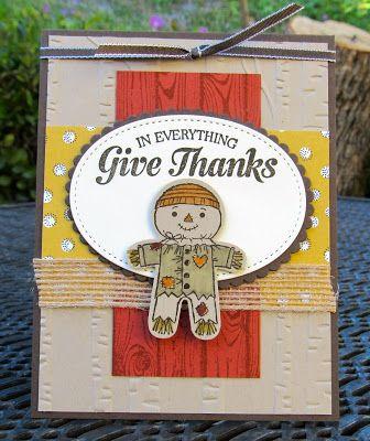 Krystal's Cards: Stampin' Up! Cookie-Cutter Scarecrow #stampinup #krystals_cards