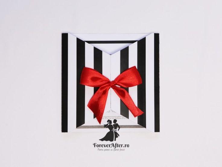 Invitatie de nunta Bold Black&White | Invitatii de nunta by ForeverAfter.ro