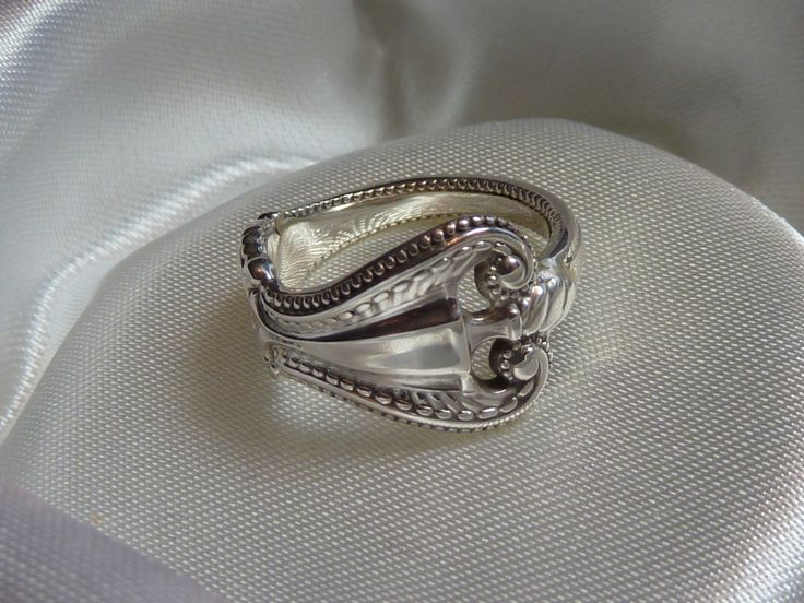 Fancy Vintage Towle sterling spoon ring Old by AngelMonsterJewelry