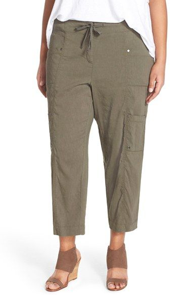 Eileen Fisher Crop Cargo Pants (Plus Size)