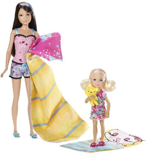 Barbie Sisters Sleep Out Skipper And Chelsea Doll 2-Pack Mattel http://www.amazon.com/dp/B004UPA01K/ref=cm_sw_r_pi_dp_Agu-tb1C8MQPJ