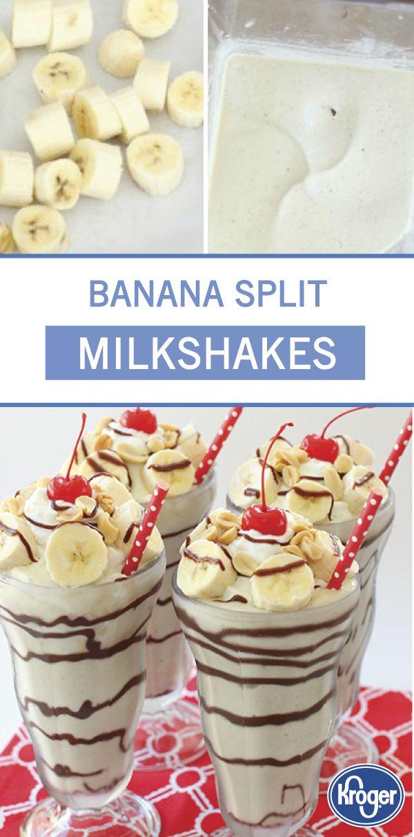 Banana Split Milkshakes