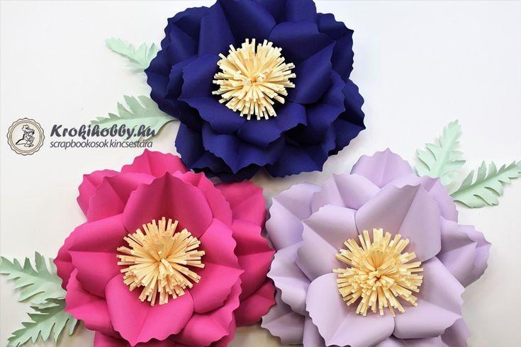 3D-s virágok - Sizzix Thinlits 661090