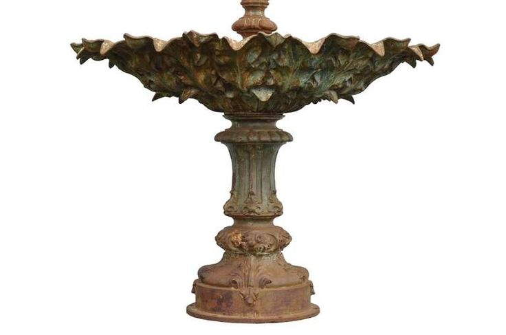 Cast iron fountain cast by Val d'osne and dated late 19th century   From a unique collection of antique and modern fountains at https://www.1stdibs.com/furniture/building-garden/fountains/