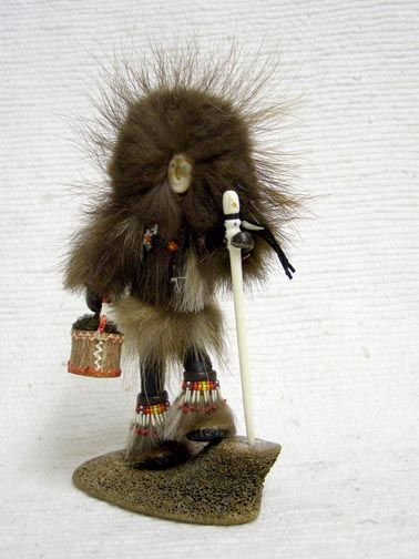 Native Alaskan-made Qaviq Woman (Wolverine) Handmade Doll by Glenda McKay